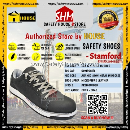 HOUSE SAFETY SHOES - STAMFORD C/W COMPOSITE TOE CAP & ARAMID MID SOLE