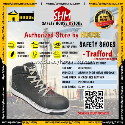 HOUSE SAFETY SHOES - TRAFFORD C/W COMPOSITE TOE CAP & ARAMID MID SOLE