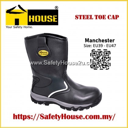 HOUSE SAFETY SHOES - MANCHESTER C/W STEEL TOE CAP & STEEL MID SOLE